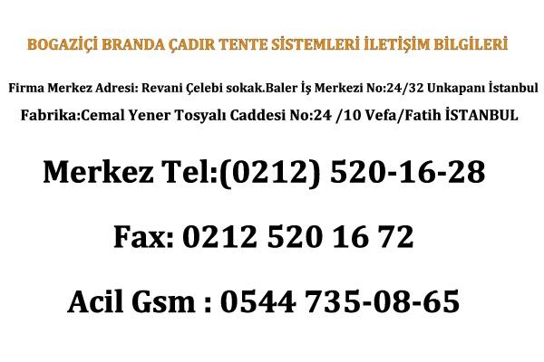 branda İstanbul İletişim Telefon Bilgileri